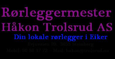 Rørleggermester Trolsrud Håkon